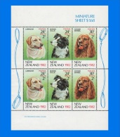 NZ 1982-0001, Health Stamps - Dogs, Miniature Sheet MNH - Blocks & Sheetlets