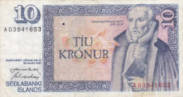 Islande - Billet De 10 Kronur - 29 Mars 1961 - Arngrimur Jonsson - Island