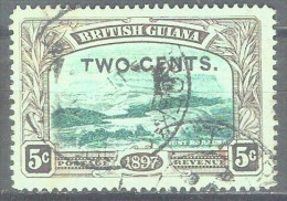 BRITISH GUYANA - QV - YVERT # 93 - VF USED - British Guiana (...-1966)
