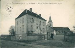 21 SAINT SEINE EN BACHE / Mairie Clocher Et Monument Berger / - France