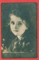 150825 / Germany Art  Ferdinand Schauss - Portrait BEAUTIFUL LITTLE GIRL LONG HAIR - 701 Bulgaria Bulgarie Bulgarien - Peintures & Tableaux