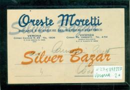 VERONA CITTA´ - PUBBLICITARIA - ORESTE MORETTI - MATERIALE ELETTRICO - Verona