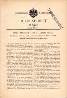 Original Patent - Henri Lepersonne In Val Saint Lambert , 1893 , Apparat Zum Schmelzen Von Glas , Seraing !!! - Glas & Kristall