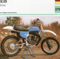 SPORTS ** MOTOCYCLISME  ** ALLEMAGNE  ***  SACHS 250 CROSS - Other