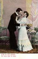 COUPLE - Lot De 6 Cartes Fantaisies (scannées Recto-verso) - Postcards