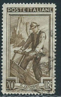 Italia 1950 Usato - Italia Al Lavoro £ 200 - 1946-60: Usati