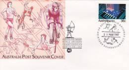 Australia ..: 1987 World Archery Championship Souvenir Cover - Bolli E Annullamenti