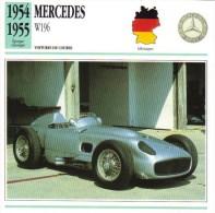 Fiche  -  Formula 1 Grand Prix Cars  -  Mercedes W196  -  Carte De Collection - Grand Prix / F1