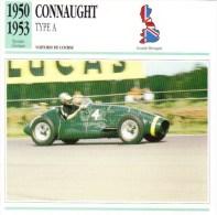 Fiche  -  Formula 1 Grand Prix Cars  -  Connaught Type A  (1950)  -  Carte De Collection - Grand Prix / F1