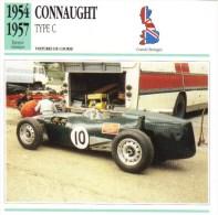 Fiche  -  Formula 1 Grand Prix Cars  -  Connaught Type C  (1954)  -  Carte De Collection - Grand Prix / F1