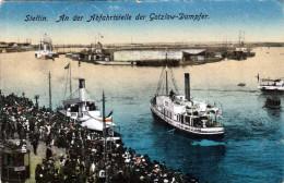 STETTIN An Der Abfahrtstelle Der Gotzlow-Dampfer Gelaufen 1921 - Polen