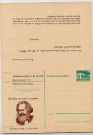 DDR P85-1a-83 C1-a Antwort-Postkarte Zudruck AK GANZSACHEN KARL MARX Halle 1983 - Karl Marx