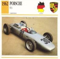 Fiche  -  Formula 1 Grand Prix Cars  -   Porsche 804  (1962)  -  Carte De Collection - Grand Prix / F1