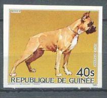 129 GUINEE 1985 - Chien Boxer (Yvert 187) Non Dentele - Neuf ** (MNH) Sans Trace De Charniere - Guinea (1958-...)
