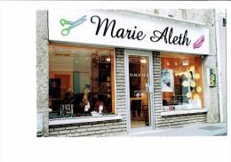 21 - DIJON - Salon De Coiffure - MARIE ALETH - Ciseaux Peigne Perruque Cheveux - Thème Coiffeur - Rue D'Auxonne - 2004 - France