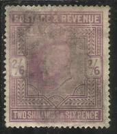 GREAT BRITAIN GRAN BRETAGNA 1902 - 1911 King Edward VII 2/6 LILAC RE EDOARDO 2sh 6p USATO USED OBLITERE' - 1902-1951 (Re)