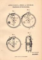 Original Patent -A. Schelle In In Peiting B. Weilheim - Schongau ,1890, Dose Für Schnupftabak , Schnupftabakdose , Tabak - Schnupftabakdosen (leer)