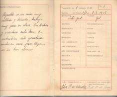 ZEUGNIS HEFT LIBRETA DE CALIFICACIONES COLEGIO GERMANIA GERMANIA SCHULE BUENOS AIRES AÑO 1937 REPUBLICA ARGENTINA - Documents Historiques