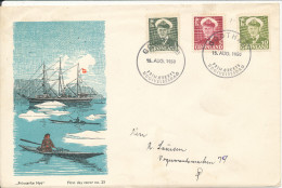Greenland FDC 15-8-1950 King Frederik IX With Cachet Not Complete - FDC
