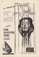 # PINO SILVESTRE VIDAL PARFUM EAU DE COLOGNE 1950s Advert Pubblicità Publicitè Reklame Perfume Profumo Cosmetics - Parfums & Beauté