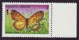 UZBEKISTAN 1992. BUTTERFLY Melitaea Acreina. Michel Nr. 2. MNH (**) - Uzbekistan