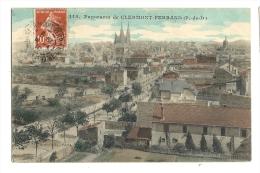 Cp, 63, Clermont-Ferrand, Panorama, Voyagée 1910 - Clermont Ferrand