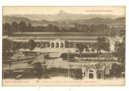 Cp, 64, Pau, La Gare Du Midi Et Le Pic Du Midi D'Ossau - Pau