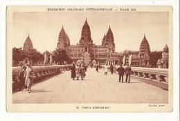 Cp, 75, Paris, Exposition Coloniale Internationale - 1931 -Temple D'Angkor Vat, Voyagée 1969 - Expositions