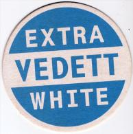 BELGIUM - EXTRA VEDETT WHITE BEER MAT - NEW UNUSED - Beer Mats