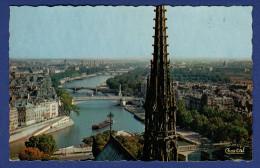 75 PARIS La Flèche De Notre-Dame ; Ponts, La Seine, Péniche - Notre Dame De Paris