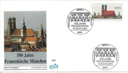 Germany 1994  500 Jahre Frauenkirche, Munchen   FDC  Mi.1731 - FDC: Covers