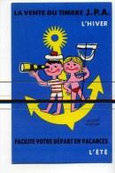 CPA  Illustrateur  :  MORVAN   Hervé    Hiver/été Avec Ancre   A   VOIR  !!! - Morvan