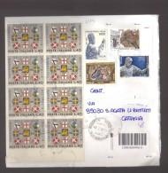 4324-Lettera Con Eccezionale Affrancatura Multipla Di Commemorativi - 2001-10: Poststempel