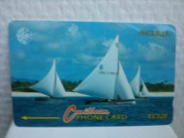 Phonecard Anguila EC$20 Number 3CAGA Used Rare - Anguilla