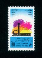 EGYPT / 1996 / ALEXANDRIA / 2ND ALEXANDRIATE WORLD FESTIVAL / ALEXANDRIA LIGHTHOUSE / MNH / VF - Ägypten