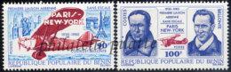-Bénin 484/85**Avions,tour Eiffel - Bénin – Dahomey (1960-...)