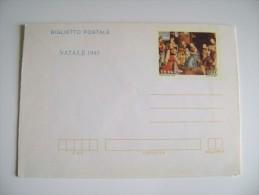 BIGLIETTO   POSTALE  NATALE 1983  NOEL    ITALIA  NUOVO LIRE   300 - Entiers Postaux
