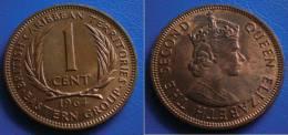 BRITISH EAST CARIBBEAN TERRITORIES  1 Cent 1964 UNC - Colonias