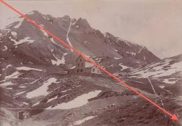 Grande Photo 19èm Alpes Savoie Montagne Col D'izouard Refuge Napoleon - Oud (voor 1900)