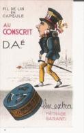 CARTE PARFUMEE ANCIENNE FIL AU CONSCRIT PARFUMEE PAR AU JOLI MATIN DE MOUILLERON PARIS - Perfume Cards