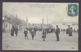 63 PUY DE DOME CLERMONT FERRAND Exposition De 1910 Vue Sur La Porte D'entrée Et La Passerelle - Clermont Ferrand
