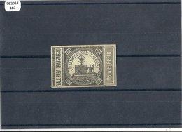 BRESIL 1870 - YT N� 1a TIMBRE TELEGRAPHE NEUF IMPRESSION SUR CARTON SIGNE SCHELLER RARE