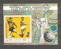 Hojita Bloque  Sin Dentar Mexico 1970 - Yemen