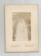 photographie , 14 X 10 cm , jeune fille , communiante , communion , phot : Sutter , Asni�res ,  frais fr : 1.80�