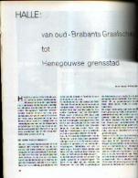 """« HALLE Van Oud-Brabants Graafschap Tot Henegouwse Greensstad » Article (8 Pages - 9 Illustrations) In Revue """"BRABANT"""" ( - Histoire"""