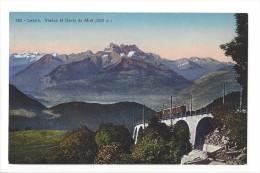 10217 -  Leysin Viaduc Et Dents Du Midi Train - VD Vaud