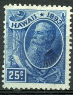 1884 Hawaii 25 Cent Sanfiord Ballard Issue #79 - Hawaii