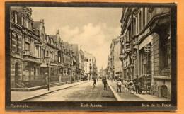 Esch S Alzette Rue De La Poste 1910 Luxembourg Postcard - Esch-sur-Alzette