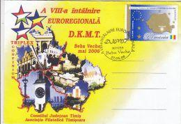 619- DANUBE- CRIS- MURES- TISA EUROREGION MEETING, SPECIAL COVER, 2006, ROMANIA - Lettres & Documents
