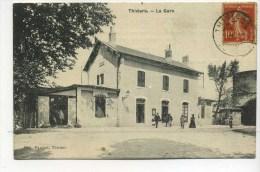 CPA  24 : THIVIERS   La Gare   A   VOIR  !!! - Thiviers